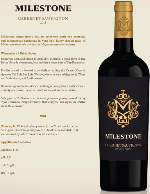 Milestone Cabernet Sauvignon 2012