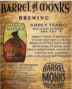 Barrel of Monks Brewing Abbey Terno
