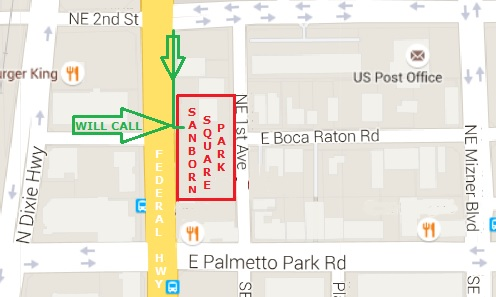 Boca Burger Battle Location Map Parking Directions To Event - Burger map us